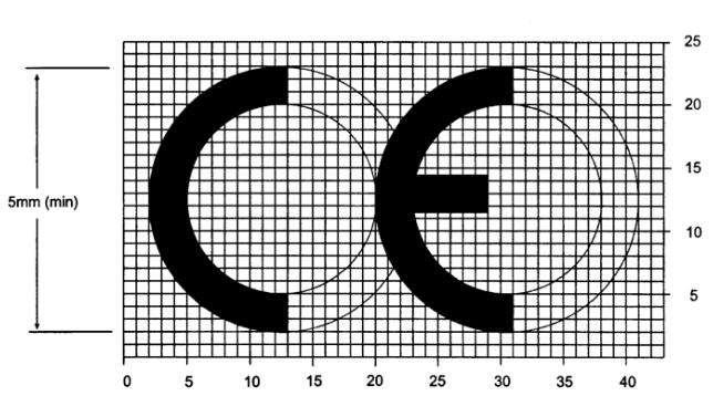CE认证标志尺寸